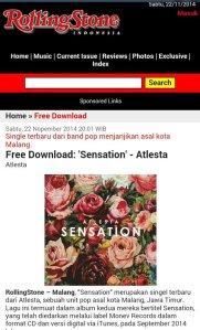 """Atlesta """"Sensation"""" at RSI website"""